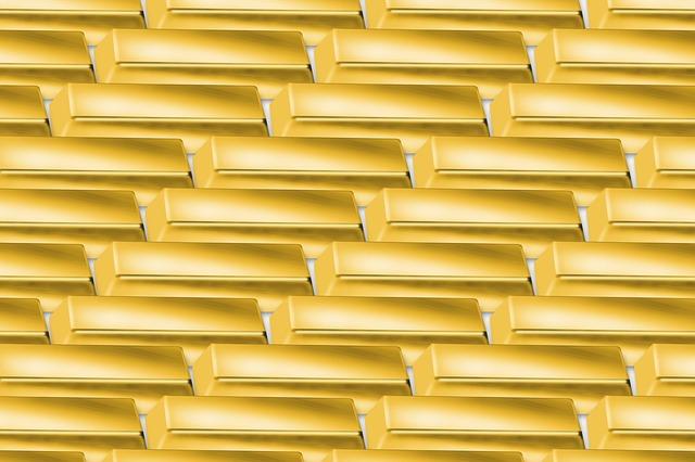 tapeta ze zlatých cihel